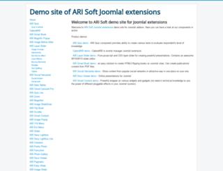 demo.ari-soft.com screenshot