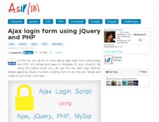 demo.asif18.com screenshot