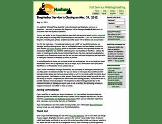 demo.blogharbor.com screenshot