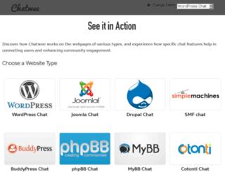 demo.chatwee.com screenshot