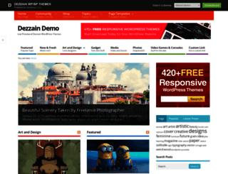 demo.dezzain.com screenshot