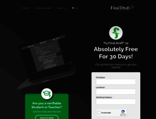 demo.finaldraft.com screenshot