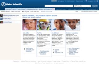 demo.fishersci.com screenshot