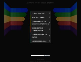 demo.gewinn-deine-reise-jetzt.de screenshot