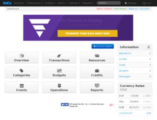 demo.inexfinance.com screenshot