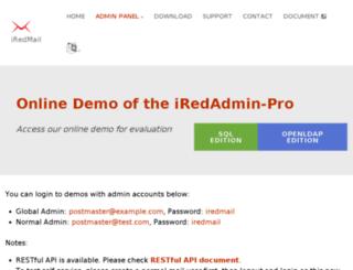 demo.iredmail.org screenshot
