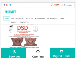 demo.jayadentalclinic.com screenshot