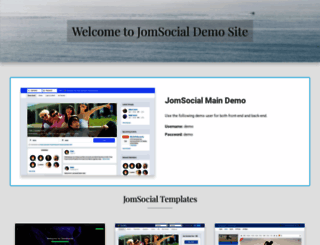 demo.jomsocial.com screenshot