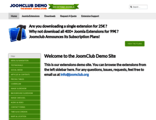 demo.joomclub.org screenshot