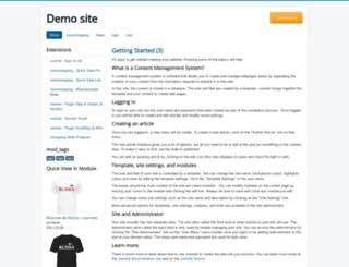 demo.joomext.ru screenshot