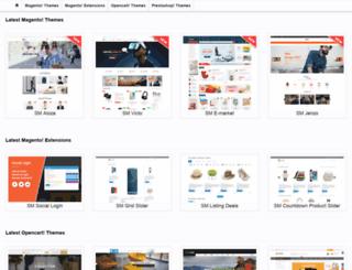 demo.magentech.com screenshot