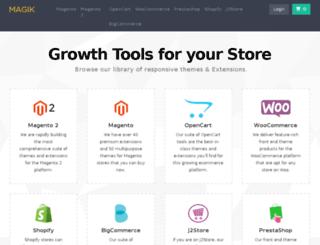 demo.magikcommerce.com screenshot