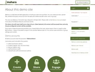 demo.mahara.org screenshot