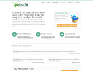 demo.mantisbt.org screenshot