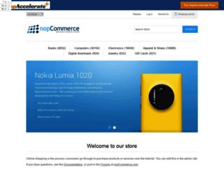 demo.nopaccelerate.com screenshot