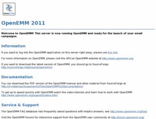 demo.openemm.org screenshot