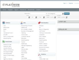 demo.oxyclassifieds-templates.com screenshot