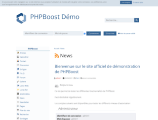 demo.phpboost.com screenshot