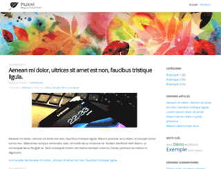demo.pluxml.org screenshot