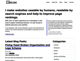 demo.robertwent.com screenshot