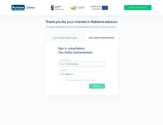 demo.rublon.com screenshot