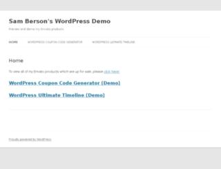 demo.samberson.com screenshot