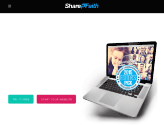 demo.sharefaithwebsites.com screenshot