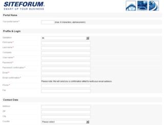demo.siteforum.com screenshot