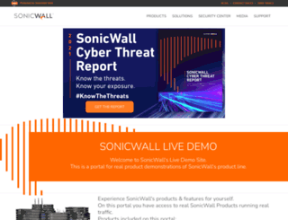 demo.sonicwall.com screenshot