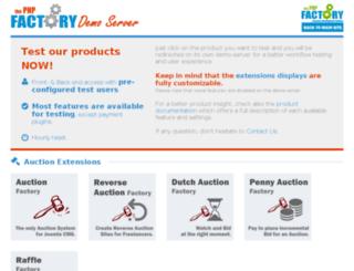 demo.thefactory.ro screenshot