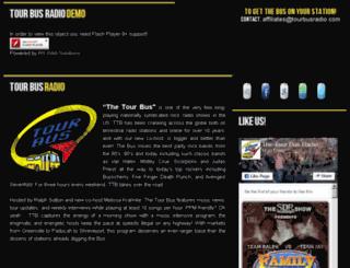 demo.tourbusradio.com screenshot