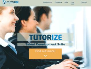 demo.tutorize.com screenshot