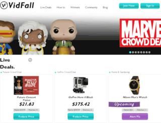 demo.vidfall.com screenshot