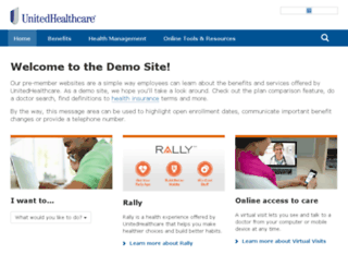 demo.welcometouhc.com screenshot