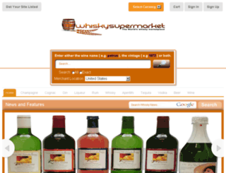 demo.whiskysupermarket.com screenshot