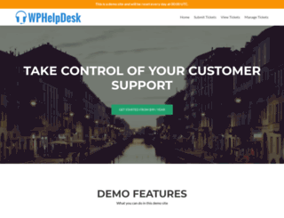 demo.wphelpdesk.com screenshot