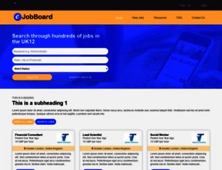 demo1.ejobboard.co.uk screenshot