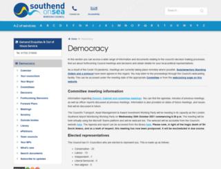 democracy.southend.gov.uk screenshot