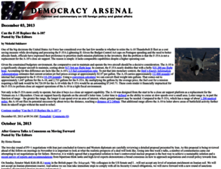 democracyarsenal.org screenshot