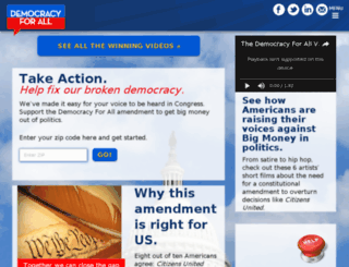 democracyforall.com screenshot