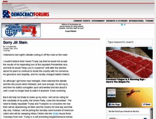 democracyforums.com screenshot