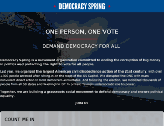 democracyspring.nationbuilder.com screenshot