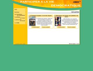 democratie.cidem.org screenshot