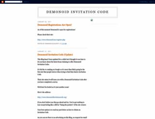demonoid-invitation-code.blogspot.com screenshot