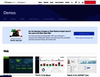 demos.telerik.com screenshot