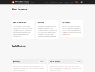 demos.wp-customerarea.com screenshot