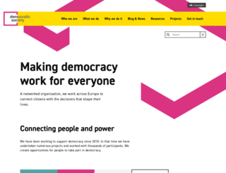 demsoc.org screenshot