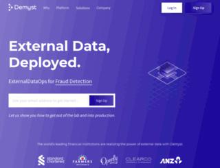 demystdata.com screenshot