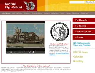 denfeld-site.isd709.org screenshot