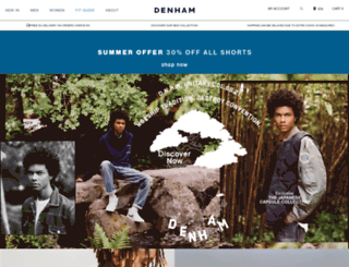 denhamthejeanmaker.com screenshot